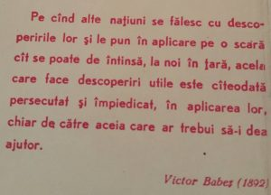 Citat Victor Babeș
